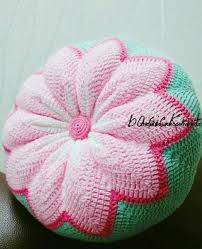 <b>Декоративная подушка</b> цветок крючком. Круглая подушка ...