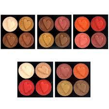 Velvet Wet Powder 4 Colors Blushing <b>Makeup Eyeshadow Palette</b> ...