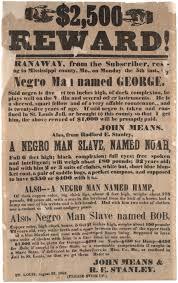 runaway slave ad the gilder lehrman institute of american runaway slave ad 1852