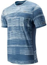 New Balance Mens 2019 Printed <b>NB Ice 2.0 Short</b> Sleeve T-Shirt ...