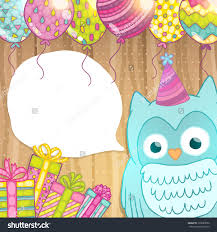 happy birthday card background cute cartoon stock vector 199080056 happy birthday card background cute cartoon owl vector holiday party template greeting postcard
