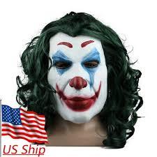 2019 <b>Joker Mask</b> Cosplay Movie <b>Horror Scary Smile</b> Evil Clown ...