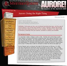 pastplay teaching and learning history technology fig 1 5 one of the mysteryquests focused on the mysterious death of the child aurore