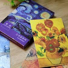 30 PCs/lot Supplies New Gift Bookmark <b>Retro</b> Postcards Van Gogh ...