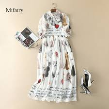 2019 <b>Runway Dresses 2017</b> White Half Lantern Sleeves Long ...