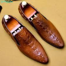 <b>Men's</b> Handmade Italy <b>Fashion</b> crocodile Oxford shoes Genuine ...