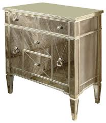 bassett mirror borghese mirrored chairside chest contemporary dressers borghese mirrored furniture