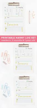 best images about office home binder corner keep track of your baby s daily activities this set of three printable nanny charts