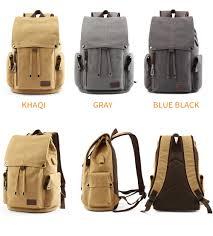 <b>MOYYI Men's Backpack</b> Vintage Canvas <b>Backpack</b> School <b>Bag</b> ...