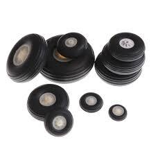 "<b>2Pcs</b>/<b>lot</b> Tail Wheel Rubber PU Plastic Hub 1"" 3.5"" Inch For <b>RC</b> ..."