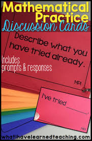 best ideas about mathematical practices get students talking mathematical practice discussion cards