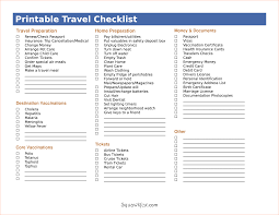 5 travel checklist template procedure template sample printable travel checklist packing list as pdf by nak29375