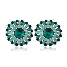 Luxury <b>Crystal Rhinestone</b> Stud Earrings <b>Bohemian Flower</b> Charm ...