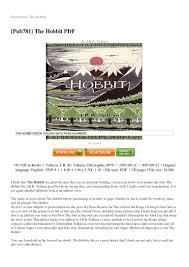 the hobbit book pdf english
