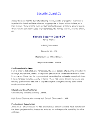 resume template security officer resume sample job and resume security objectives for resume