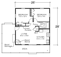 House Plan at FamilyHomePlans comCabin House Plan Level One