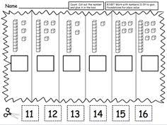 Cut and paste, Place values and Worksheets on Pinterest
