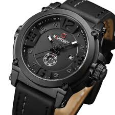<b>NAVIFORCE Mens</b> Watches <b>Top Brand</b> Luxury Sport Leather <b>Men</b> ...