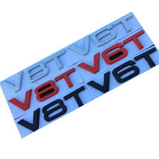 <b>JDM Car</b> Stickers V6T V8T W12 Letter Number Emblem <b>Car Styling</b> ...
