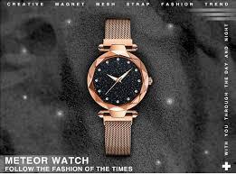 Fashion <b>Starry Sky Watch</b> Magnetic Women Star Diamond Clock ...
