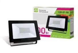 Купить <b>Прожектор</b> светодиодный <b>100W СДО</b>-<b>07</b>-<b>100</b> черный IP65 ...