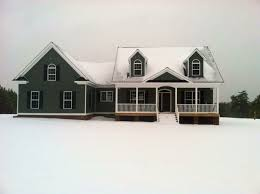 images about One Story Home Plans on Pinterest   House plans    The Anniston  plan A classic country exterior enriches the appearance of this economical home  while its front porch and two skylit back porches encourage