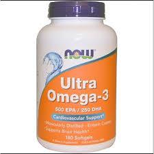 Now Foods, <b>Ultra Omega</b>-<b>3</b>, 500 EPA/250 DHA, <b>180</b> Softgels ...