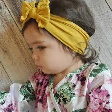 M MISM Fashion 23 <b>Colors</b> Big Bowknot <b>Headband Baby</b> ...