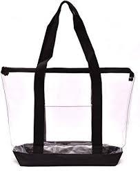 Clear Tote Bag - Top Zipper Closure, Long Shoulder ... - Amazon.com