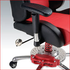 pitstop gt series office chair has racing inspired brake caliper and metal racing shocks car seats office chairs