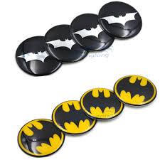 4pcs/lot <b>60mm</b> Batman Black <b>Alloy</b> Car <b>Wheel</b> Center Hub Caps ...