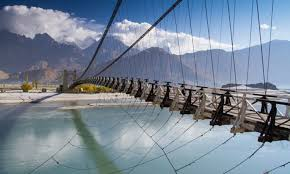 economic corridor a boon for the economy a bane a suspension bridge connecting the khaplu and shyok valleys photo by ghulam rasool