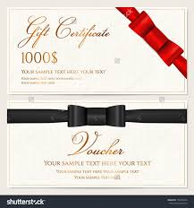 voucher gift certificate coupon invitation gift stock vector voucher gift certificate coupon invitation or gift card template red black