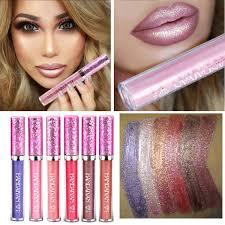 <b>6 Color HANDAIYAN Diamond</b> Shine Metallic Lipstick Charming ...