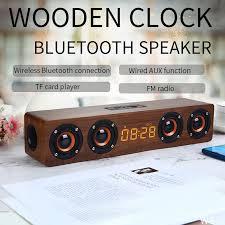 <b>20W Wooden TV</b> Soundbar Portable Bluetooth Speaker Wireless ...