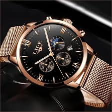 <b>LIGE Fashion Mens</b> Watches Luxury Quartz Watch <b>Men Casual</b> Slim ...