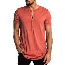 <b>Mens Personality</b> Pocket Short Sleeves Pure Color Top for <b>Summer</b> ...