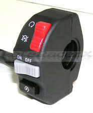 7 8 22mm aluminum motorcycle atv dirt handlebar mount push button horn beam winker turn switch for honda yamaha bmw gs