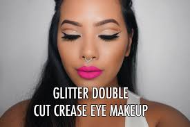 wear eye makeup with gles previous next talk thru tutorial glitter double cut crease by monair thith 2016 07