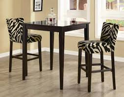 small dining tables sets: easy on the eye dining room ideas with zebra chairs for villa design and interesting black