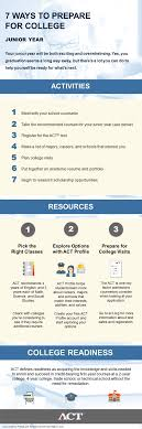 seven ways to prepare for college the infographic