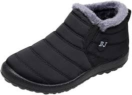VECDY Winter Couple <b>Shoes Plus</b> Velvet Warm Boots <b>Flat</b> Bottom ...