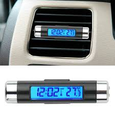 Car Air Outlet <b>Thermometer Electronic</b> Clock Time <b>Led Digital</b> ...