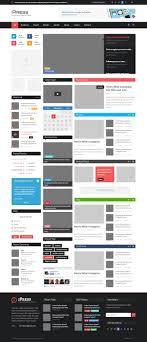 ipress psd magazine blog template vector graphic com