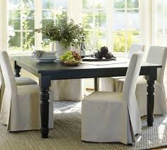 dining room tables chairs square: i am dying to have this black square dining table from pottery barn quot