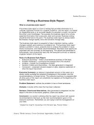 Business Reports Format      informal report writing format     Template   Troc City