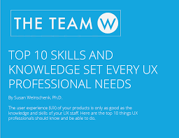 report top skills and knowledge for ux professionals