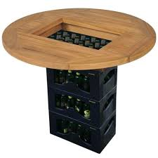 vidaXL <b>Beer Crate Tabletop Teak</b> 70 cm(SKU:43807)Free Delivery