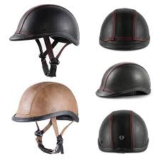 Personality Retro Motorcycle Helmet DOT Approved <b>Ultra Low</b> ...