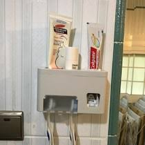 Buy <b>Toothpaste Dispenser</b> Solid Color Simple Style Bathroom ...
